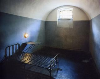 Cell of Trubetskoy Bastion prison.