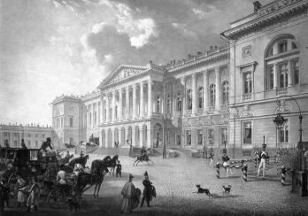 Mikhailovsky Palace. Watercolour by C. P. Beggrow. 1832.