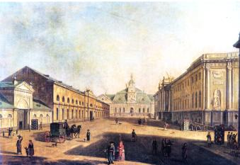 Liteiny Dvor, the Old and the New Arsenals on Liteiny Avenue. By F. Y. Alexeev. The late 18th century.