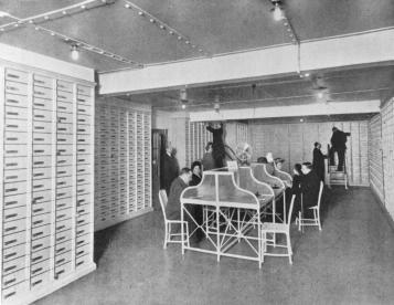 St.Petersburg Mutual Credit Society. The Safe Boxes Room. Photo, 1910s.