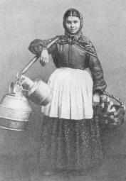 Milk Maid. Photo by V.A.Carryk. 1860s.