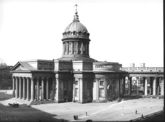 Kazan Cathedral. Photo, 1900s.
