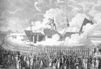 Inauguration of the Monument to Peter the Great. Engraving by A.K.Melnikov of the drawing by A.P.Davydov.1782.