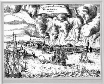 St.Petersburg Fire of 1737. Engraving, the late 1730s.