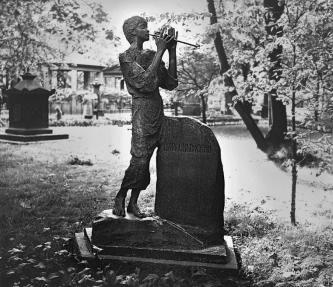 Headstone of A.S.Dargomyzhsky in the Necropolis of Artists. Sculptor A.I.Khaustov. 1961.