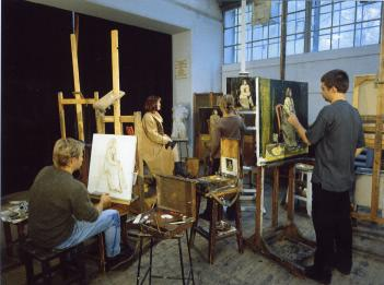 I.E.Repin Academy of Fine Arts. The painting class.