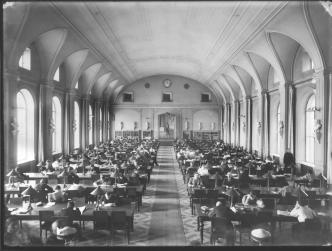 Great Hall of the Imperial Public Library. Photo, 1905.