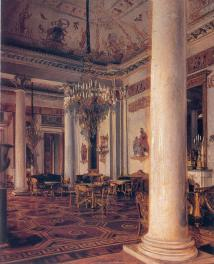 Grand Hall in the Mikhailovsky Palace. By E. K. Lipgart. Prior to 1896.