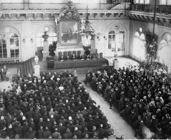 Meeting of the Union of the 17th October Members in the State Duma. Photo, 1913.