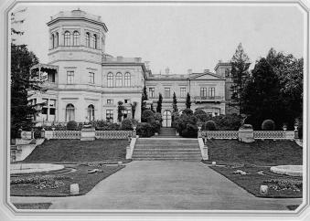Palace of Grand Prince Mikhail Nikolaevich in Mikhailovka. Photo, 1890s.