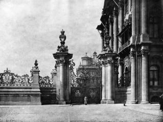 Garden Railing by the Winter Palace (has not survived). Photo, 1900s.