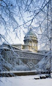 Railing of the Kazan Cathedral.