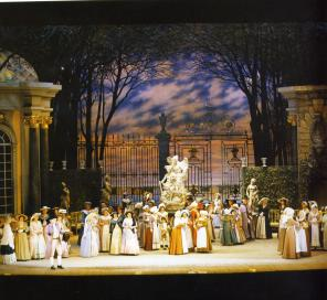 Mariinsky Theatre. The scene from the The Queen of Spades opera by P.I.Tchaikovsky.