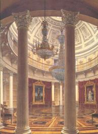 Rotunda of the Winter Palace. Watercolour by E.P.Hau. 1862.