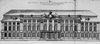 Winter Palace of Empress Anna Ioannovna. The draft from the collection of F.-W.Bergholz, 1740s.