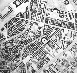 Plan of Saint Petersburg (the plan by F.F.Schubert). 1828. A fragment of the central part of the plan.
