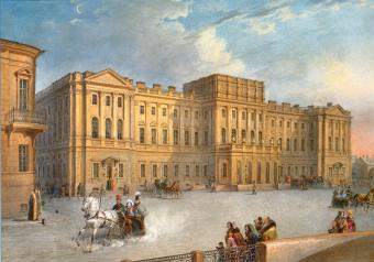 Mariinsky Palace. Watercolour by V.S.Sadovnikov. Circa 1847.